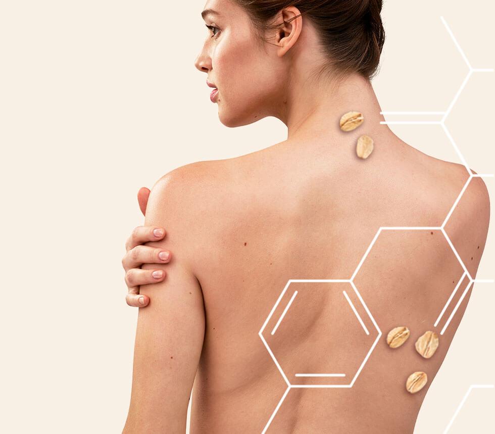 gli active naturals di aveeno per la pelle della donna di schiena e corpo